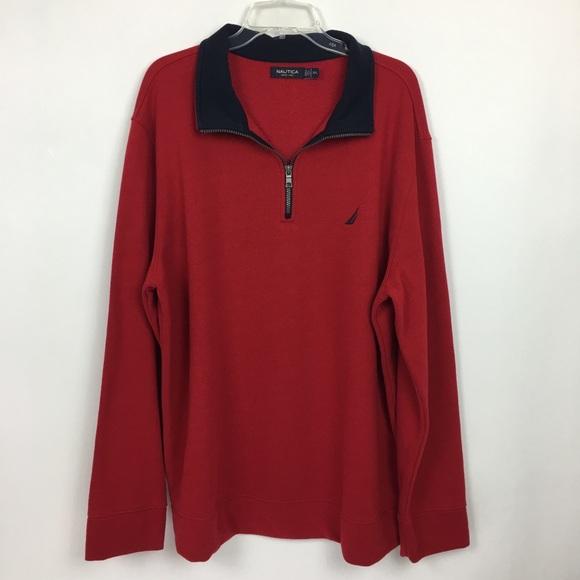 Nautica Other - Nautica Red Pullover Sweatshirt Quarter Zip XXL